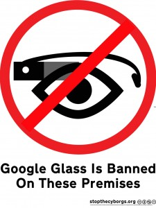 Плакат запрещающий Google Glass