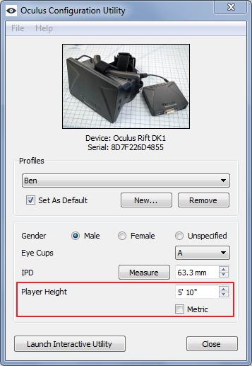 Калибровочная утилита Oculus Rift