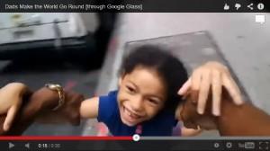 Кадр из рекламы Google Glass на День отца