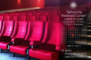 Google Glass в кинотеатре