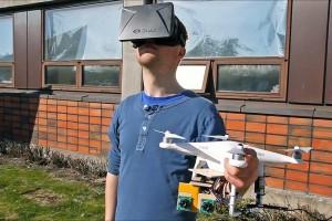 Oculus Rift и дроне