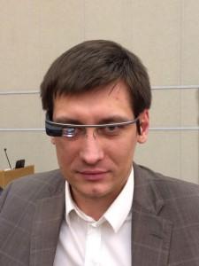 Дмитрий Гудков в Google Glass